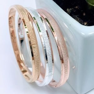 Jewelry - New - Set of 3 Stackable Frosted Bracelets